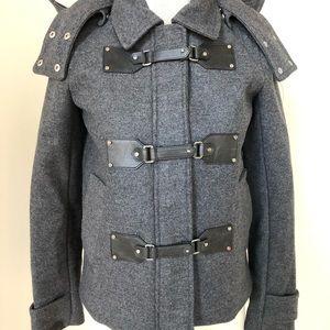 Michael Kors Military Style Hooded Jacket